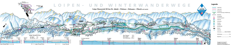 Langlauf Plan St. Anton