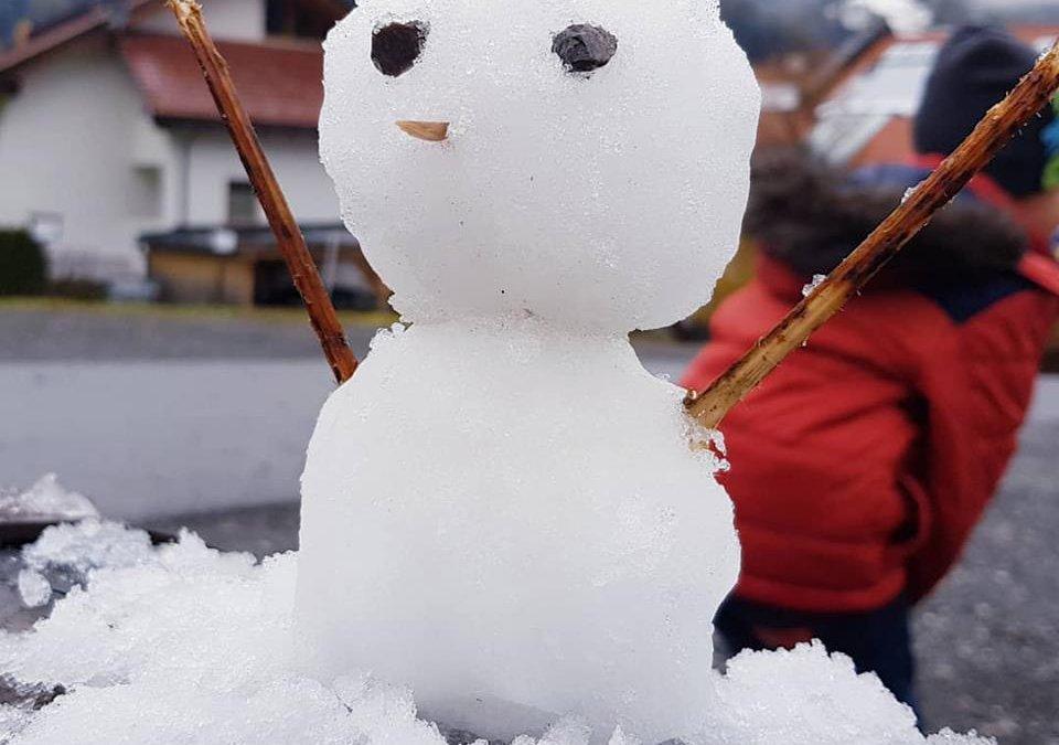 Erster Schnee! Training für Skitouren