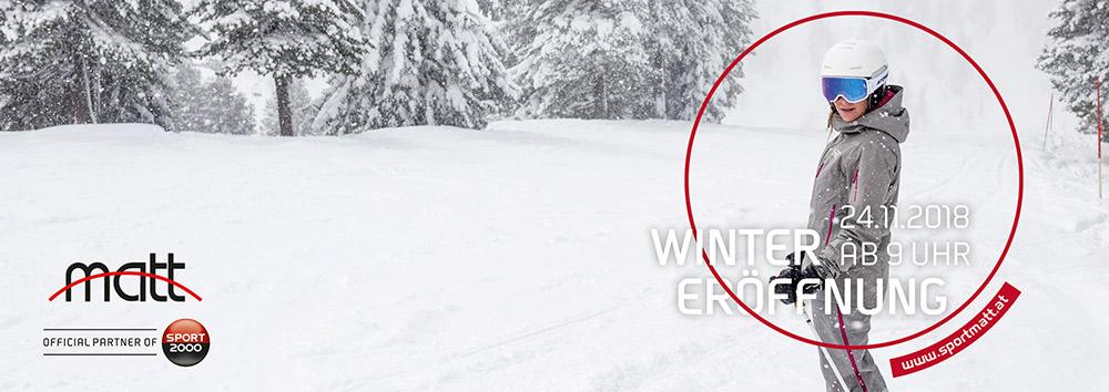 Feiert mit! Sport Matt Winter Eröffnung 24.11.18 / 9 Uhr
