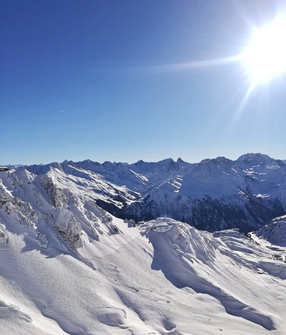 Perfect snow conditions at the Arlberg
