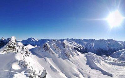 Perfekte Schneebedingungen am Arlberg