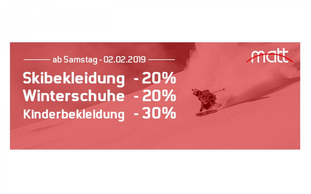 Neuer Sport LOOK gefällig? Matt Sport WINTER SALE
